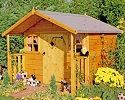 cubby wooden playhouse small image