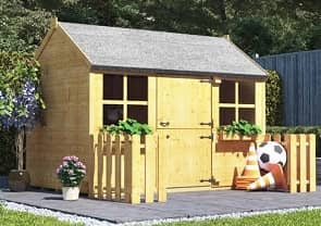 gingerbread junior wooden playhouse image