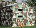 mercia hideout wooden playhouse small image