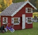 palmako tom wooden playhouse small image
