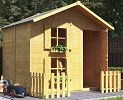 peardrop extra wooden playhouse small image