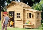 rowlinson clubhouse hideaway wooden playhouse small image