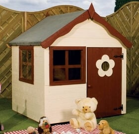 snug wooden playhouse image