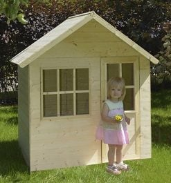 tp hideaway house wooden playhouse image
